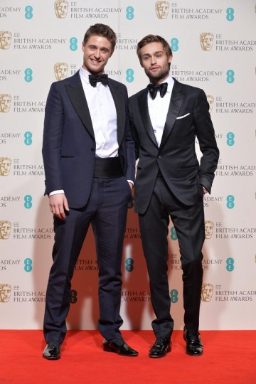 Presenters of the Production Design award: Douglas Booth and Max Irons