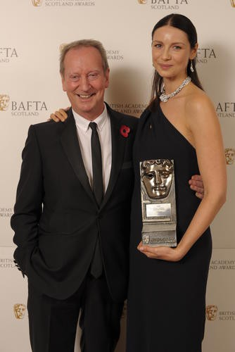 Caitriona Balfe (Actress Television) with citation reader Bill Paterson