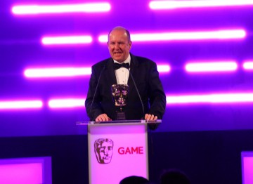 Ian Livingstone OBE, co-founder of Games Workshop, presents the BAFTA Special Award.