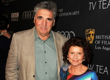 Husband and wife Jim Carter and Imelda Staunton