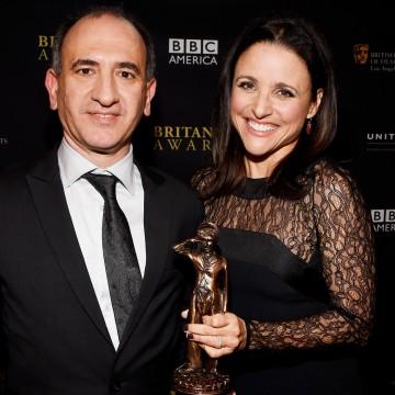 Producer Armando Iannucci (L) and Honoree Julia Louis-Dreyfus