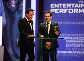 Ant and Dec scoop the Entertainment Performance Award for ITV's I'm a Celebrity...Get Me Out Of Here! (BAFTA/Steve Butler)
