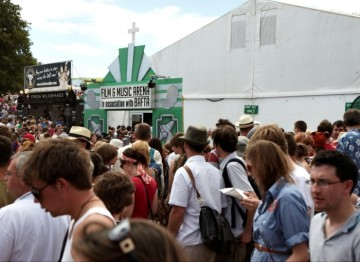 July 17: Crowds outside the Film and Music Tent at Latitude Festival (Picture: Jonathan Birch)