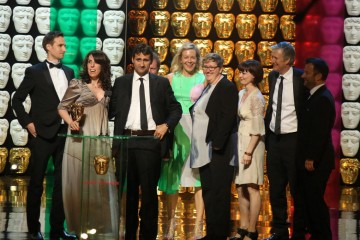 The Island With Bear Grylls Production Team accept the award for Reality and Constructed Factual