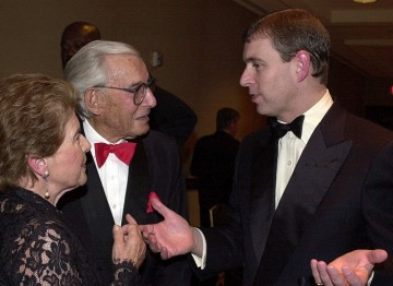Jo Greene, Guy Greene with HRH Prince Andrew, Duke of York.