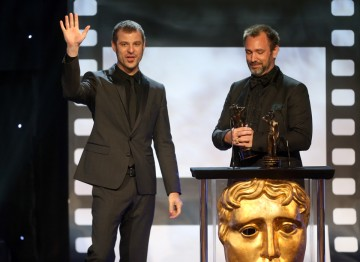 Matt Stone and Trey Parker at the Britannia Awards.