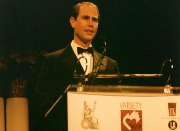 HRH Prince Edward presents Martin Scorsese with his Britannia Award.