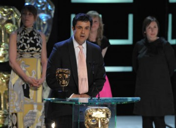 Hettie Macdonald, Abi Morgan, Andrew Woodhead, Greg Brenman and cast member Holly Kenny accepted the Single Drama award for White Girl (BAFTA / Marc Hoberman).