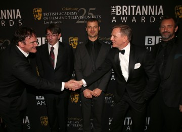 Quentin Tarantino, Will Wright, Matt Stone, Daniel Craig and Trey Parker.