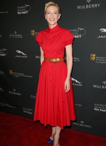 Cate Blanchett arriving at the BAFTA LA 2014 Awards Season Tea Party.
