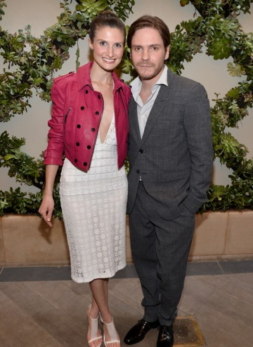 Daniel Bruhl and Felicitas Rombold on the red carpet at the BAFTA LA 2014 Awards Season Tea Party.