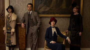 A photograph featuring some of the characters from Downton Abbey's fifth season.