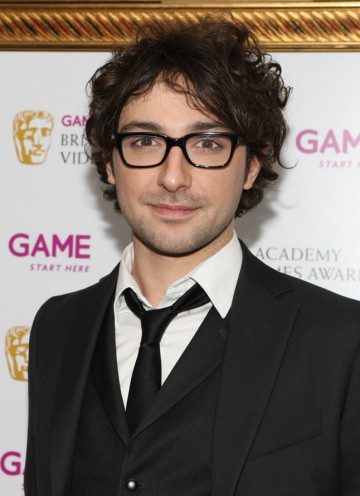DJ and presenter Alex Zane arrives at the Hilton to present the Gameplay category.