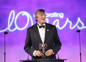 QI host and wordsmith Stephen Fry was an appropriate choice to present the Writer category (BAFTA / Richard Kendal).