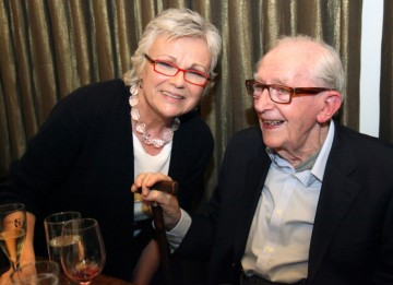 Lewis Gilbert with his old friend and colleague Julie Walters.
