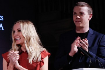 Joanne Froggartt and Will Poulter.