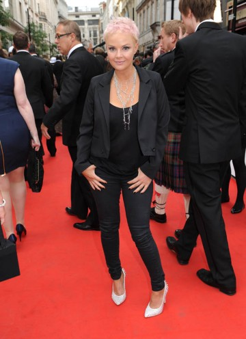 Television presenter Gayle Porter graces the red carpet outside the London Palladium (BAFTA/Richard Kendal).
