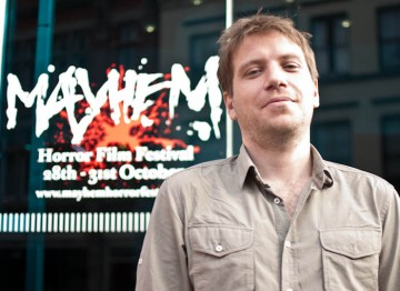 Monsters writer and director Gareth Edwards outside the Nottingham Broadway Theatre