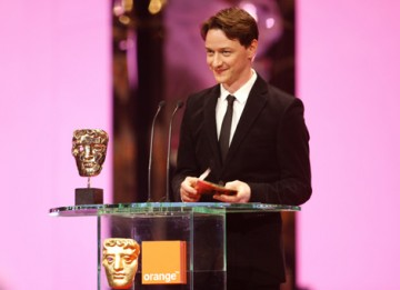 James McAvoy, Orange Rising Star Award winner in 2006, presents the hotly contested Supporting Actress category (BAFTA / Marc Hoberman).