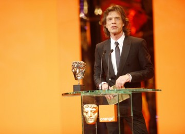 The Rolling Stones legend presented Christian Colson with the Best Film BAFTA for Slumdog Millionaire (BAFTA / Marc Hoberman).