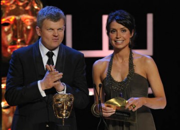 Co-hosts Adrian Chiles and Christine Bleakey took time out from presenting The One Show to announce the winner in the Factual Series category (BAFTA / Marc Hoberman).