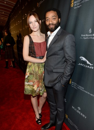 Chiwetel Ejiofor and Sari Mercer on the red carpet at the BAFTA LA 2014 Awards Season Tea Party.