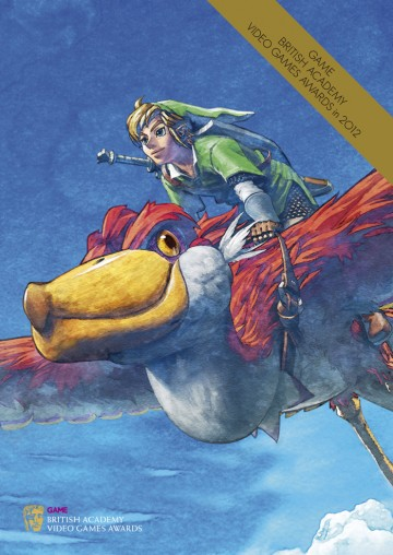 GAME British Academy Video Games Awards 2012 brochure cover: The Legend of Zelda: Skyward Sword