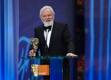 "Anthony Hopkins accepts the Academy's highest honour - the Fellowship - stating ""Life in this acting game has just been one long, drawn-out surprise"" (pic: BAFTA / Camera Press)."