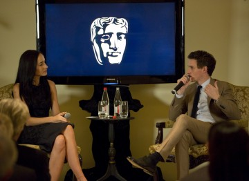 Eddie Redmayne is interviewed by Lisa S for his Academy Circle event at the Peninsula Hong Kong