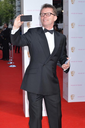 Nicky Campbell takes a quick red carpet selfie outside the Theatre Royal