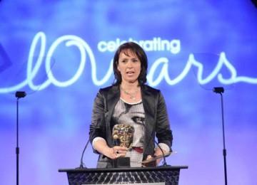Juliet Aubrey, star of TV drama Primeval, presented the Costume Design category (BAFTA / Richard Kendal).