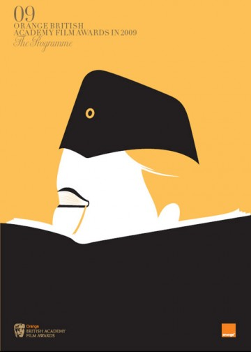 Orange British Academy Film Awards Official Event Programme cover by Noma Bar.