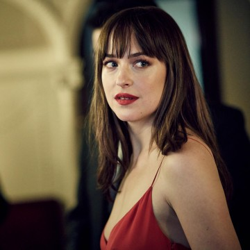 Dakota Johnson backstage in the J. Kings Smoking room at London's Royal Opera House