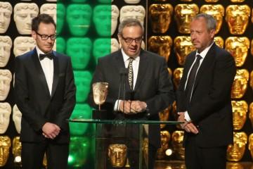Anthony Wonke, Stephen Ellis and John Keyes accept the award for Current Affairs Winner