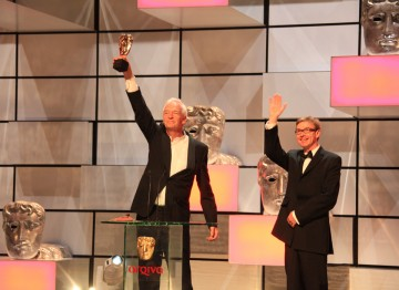 BAFTA winners for News Coverage, Jon Snow and Jim Gray.