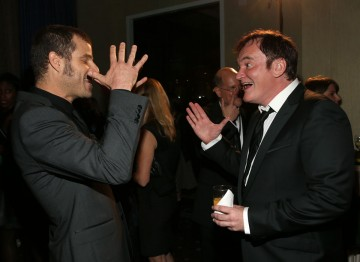 South Park's Matt Stone with director Quentin Tarantino, who received the John Schlesinger Britannia Award for Excellence in Directing.