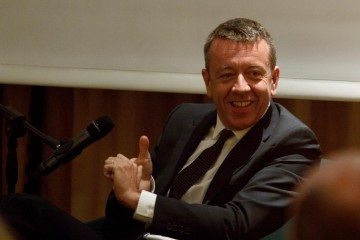 Academy Circle event with Peter Morgan at Chiltern Firehouse on 24 September 2014.