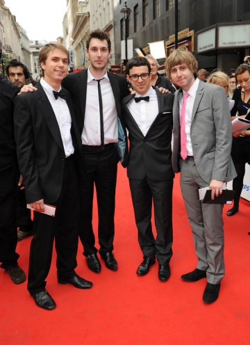 Cast of The Inbetweeners, nominated for the Comedy Programme BAFTA, arrive on the red carpet (BAFTA/Richard Kendal).