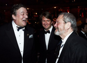 Stephen Fry, Tom Hooper and Harvey Weinstein at the 2012 Film Awards