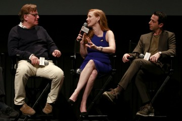 Aaron Sorkin, Jessica Chastain, Jeremy Strong