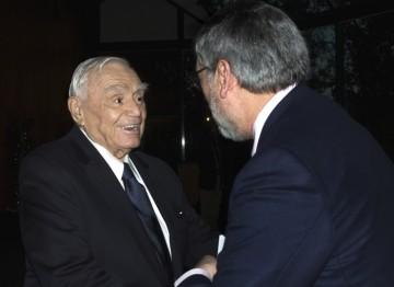 Ernest Borgnine and John Landis