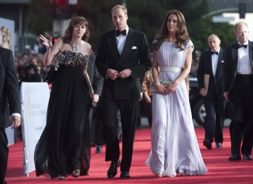 The Royal couple were chaperoned on the red carpet by BAFTA CEO Amanda Berry