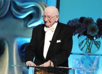 Television producer and executive Sir Bill Cotton CBE presented the Special Award to legendary comedy writers David Croft and Jimmy Perry (pic: BAFTA / Richard Kendal).