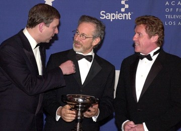 HRH Prince Andrew, Duke of York, Steven Spielberg and Michael Crawford