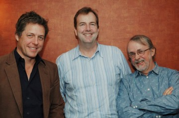 Hugh Grant, Director Peter Lord and Moderator Patrick Connolly