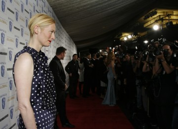 Tilda Swinton, recipient of the Britannia Award for British Artist of the Year