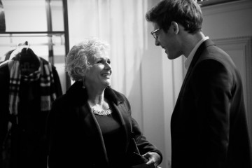 Julie Walters and James Norton backstage at the announcement event