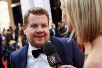 James Cordon gives an interview before the House of Fraser British Academy Television Awards