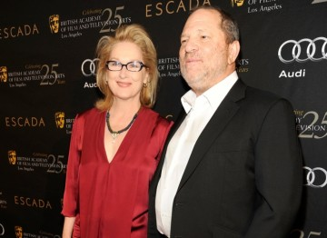 Meryl Streep and Harvey Weinstein.