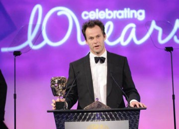 Criminal Justice scriptwriter Peter Moffat collected the award for Writer (BAFTA / Richard Kendal).
